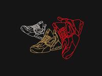 Alpha Savage icon vector shoe design illustration sneaker nike