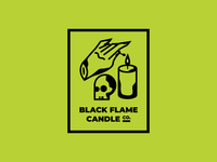 Black Flame Candle skull illustration vector halloween hocus pocus spooky candle