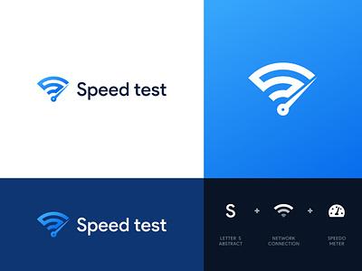 Speed Test Logo Design speed s monogram letter lettermark logodesign identity speedtest network digital logo creative internet branding