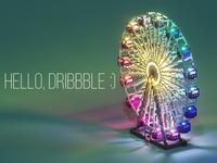Ferris Wheel. Also, hello Dribbble :)