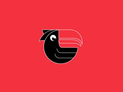 Tucan Logo icon sport vector design branding identity illustrator illustration tucan golden ratio logo golden ratio logo