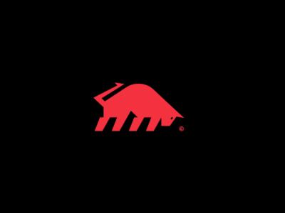 Bull Logo branding identity illustrator logo sport icon design red animal bull animal logo icon logo bull logo