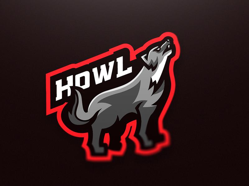 Wolf Esports Mascot Logo (Howl) by Malmoo | Dribbble ...