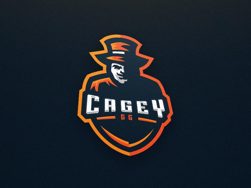 Cagey.GG eSport mascot logo. csgo illustrator design sport esport logo mascot