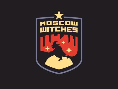 Moscow Witches v1 design illustration animal mascot logo branding identity malmoo mascot illustrator sport esport logo