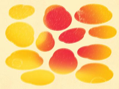 Lemon Gum Drops yellow colors abstract print vector