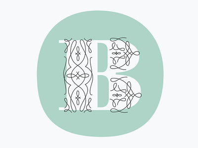Illustrated B b dropcap typography