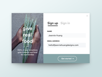 Daily UI 001 :: Sign Up