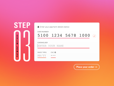 Daily UI 002 :: Credit Card Checkout dailyui univers ui design daily ui checkout credit card