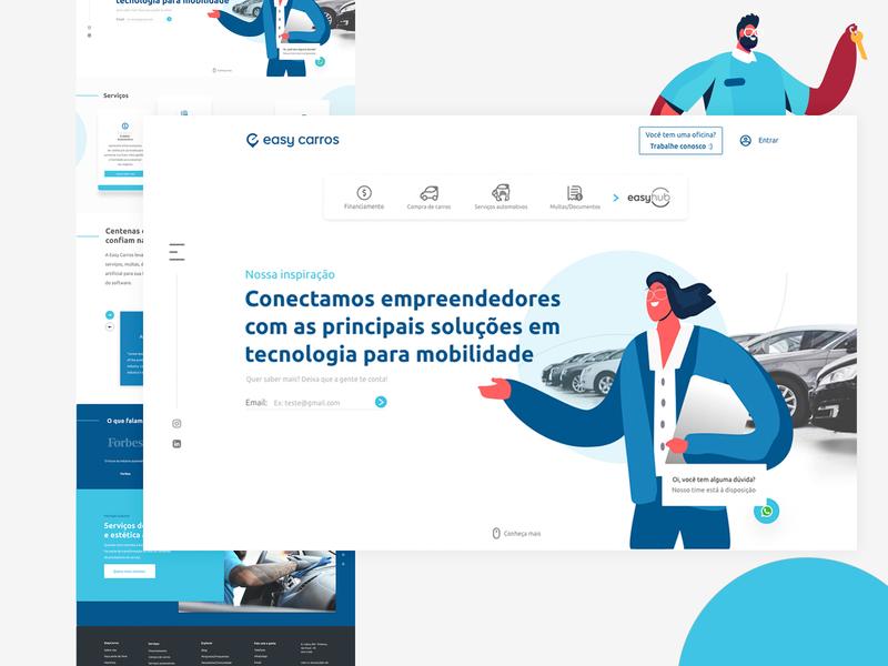 Easy Website Design branding design illustration web animation ux ui