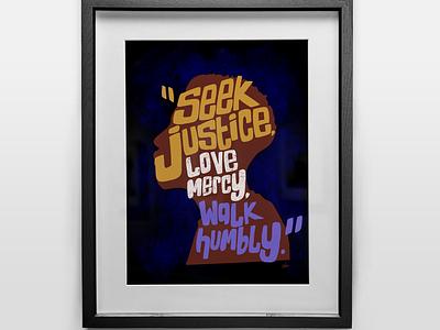 Seek Justice - Version 2 procreate digital illustration blacklivesmatter