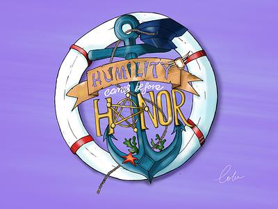 Humility and Honor anchor sea navy illustration painting digital art humility honor