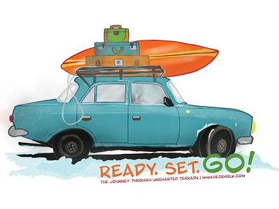 Ready. Set. Go! procreate app digital illustration 2018 illustration digital art