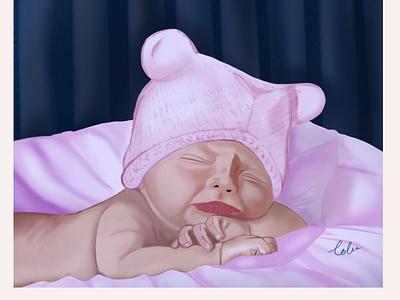 Lullaby digital illustration digital art