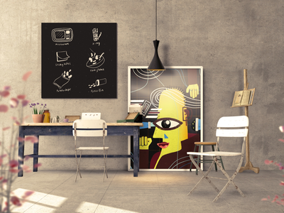 What do you see— Wall art illustration art digital