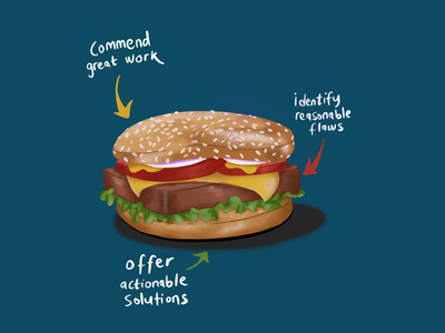 Sandwich procreate digital illustration