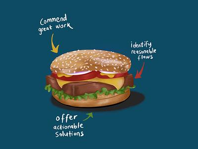 Sandwich procreate digital illustration