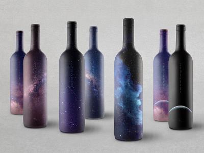 Stellar Cellars Wine Wrap Designs packaging design wine wrap wine label wine bottle