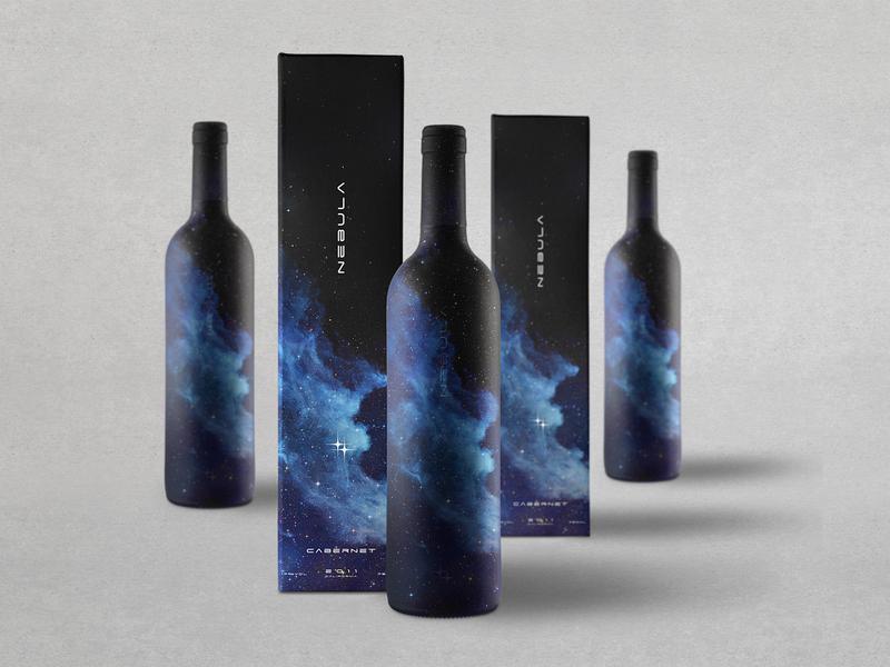 Stellar Cellars Wine Bottle & Box Design winery packaging design wine bottle packaging