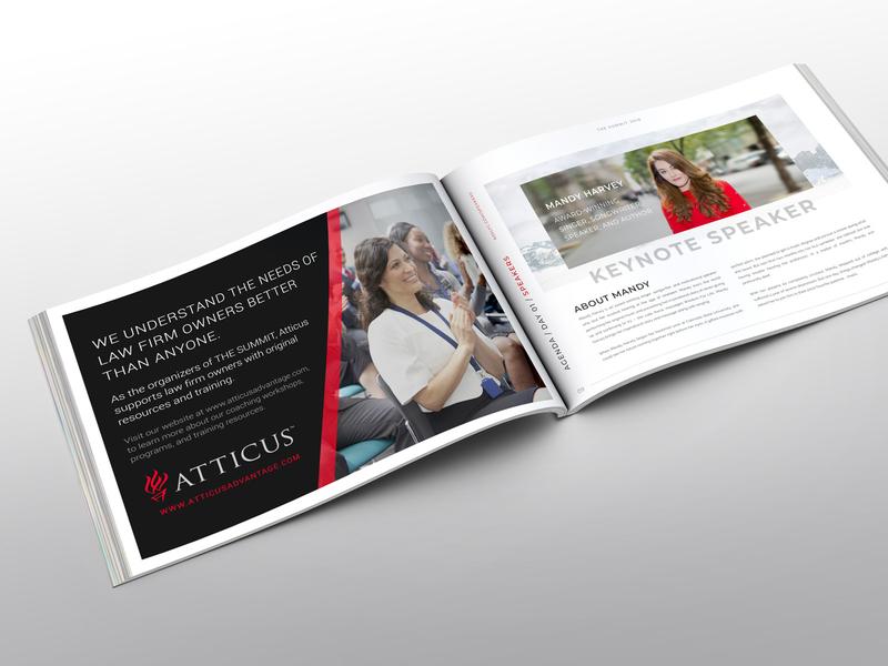 SUMMIT Program / Catalog Design mandy harvey conference catalog design