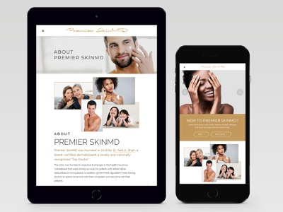 Premier SkinMD Mobile View ipad iphone responsive web design branding medical dermatology responsive wordpress mobile web development responsive design