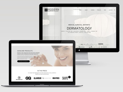 Modern Dermatology Website