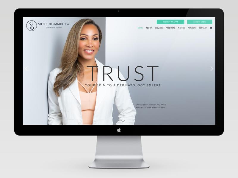 Steele Dermatology georgia atlanta branding web design product skincare dermatologist