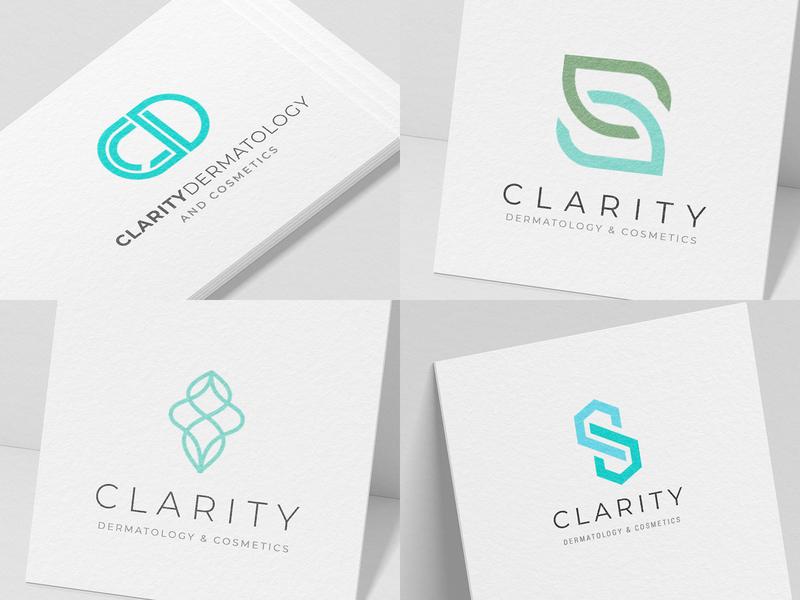 Clarity Dermatology brand and website design moodboards logo design branding wordpress medical website design dermatologist website website design logo design