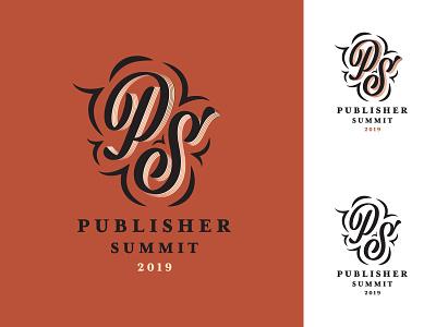 Rejected Logo flourishes logo off white black copper rose gold classy monogram illustrator