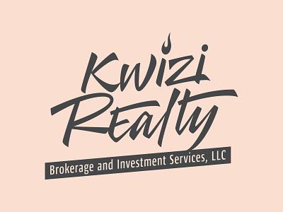 Logotype for real estate company branding brush lettering calligraphy logo logotype lettering typography design vector