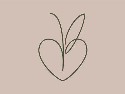 AB monogram for newborn girl simplicity monogram logo logotype lettering typography design vector