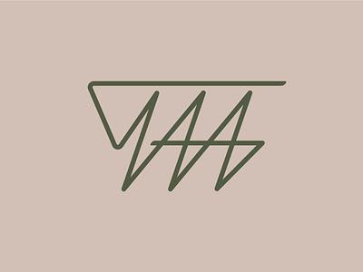 TAA monogram branding graphic logo monogram simplicity logotype design lettering typography vector