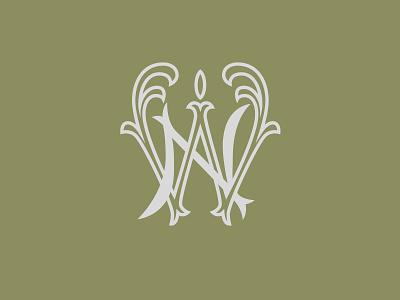 NW monogram typography graphic vector design logo logotype lettering monogram