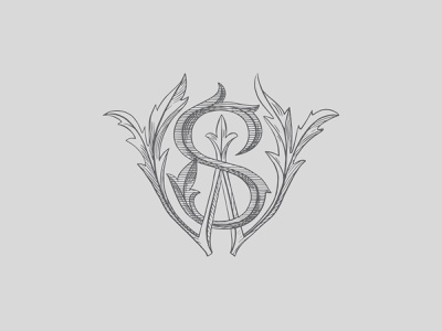 Wedding monogram graphic design vector branding logo logotype lettering typography monogram graphic design