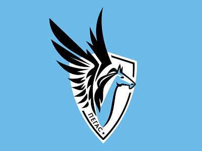 Pegasus emblem graphic design sketches pegasus horse school emblem emblem branding illustration logo logotype graphic design vector