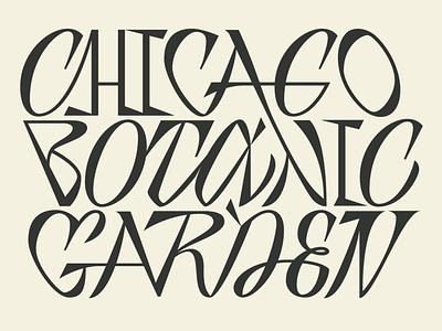 Branding for Chicago Botanic Garden (Learning Project) brand identity garden branding logo logotype graphic lettering typography design vector