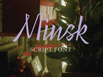 Minsk Script Font logotype logo lettering typography struggle fight freedom belarus minsk script font font