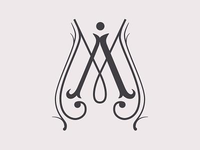 AM monogram vector lettering logotype monogram