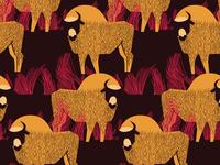 Bisons pattern for backpacks production