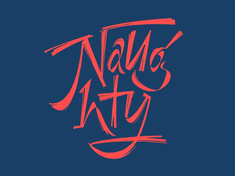 Naughty lettering naughty simplicity challenge logo logotype lettering typography graphic design vector