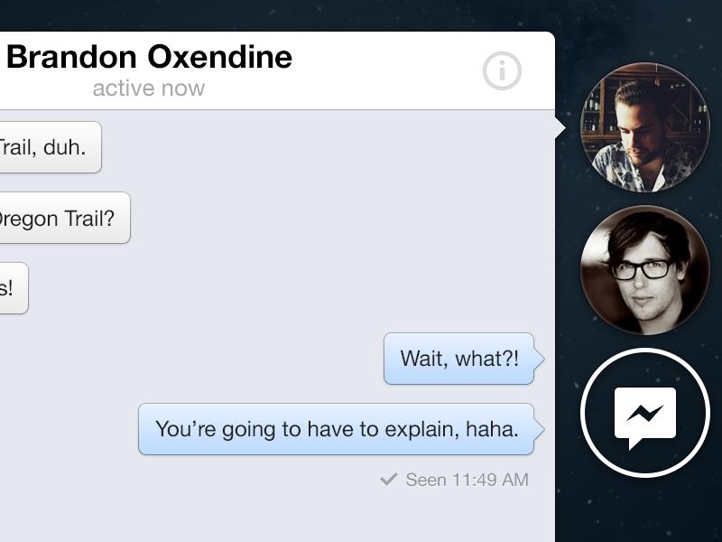Facebook Chat Heads – OSX facebook app osx retina ui