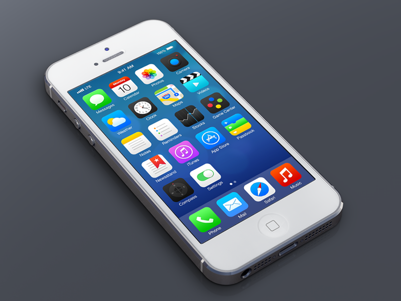 iOS7 Redesign - Again ios7 ios mobile design ui ux apple icon illustration photoshop vector