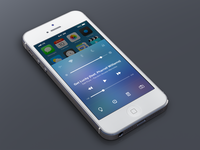 iOS7 Control Center Redesign