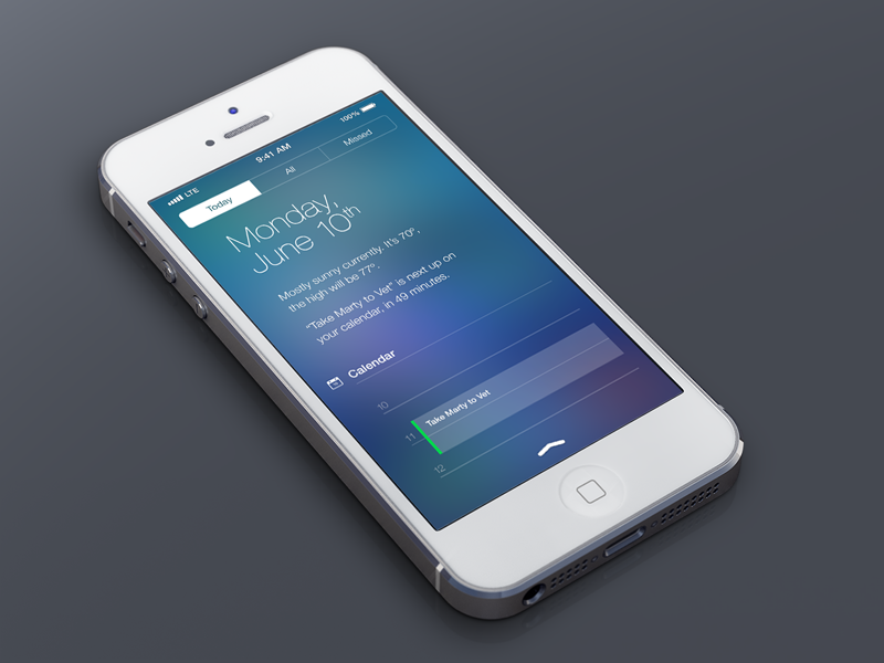 Ios7 notifications dribbble