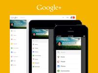 Google+ Navigation (Web/iOS)