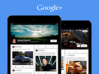 Google+ Profiles (iOS Tablet)