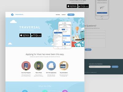 Travel App Landing Page marketing landing website website design landing page design landing page travel app