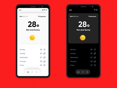 Weather app minimal design dark ui dark freebie minimal simple design weather forecast weather app weather
