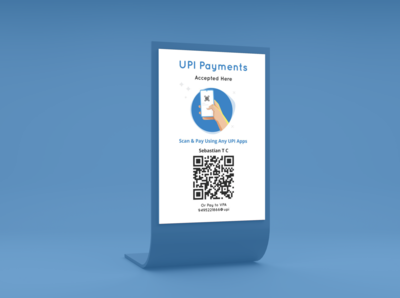 UPI Payments Restaurant Standee