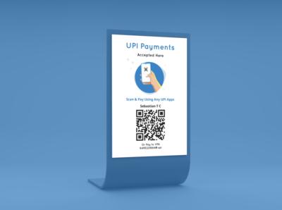 UPI Payments Restaurant Standee